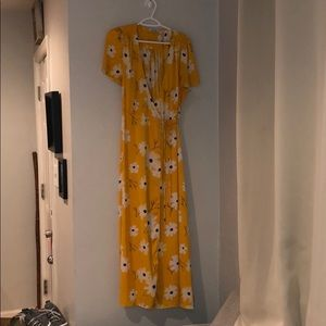 Floral yellow dress